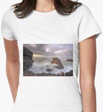 Rock flows at Lighthouse Beach Women's Fitted T-Shirt