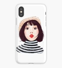 French woman iPhone Case/Skin
