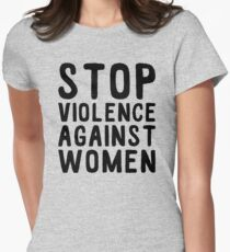 stop violence against women Women's Fitted T-Shirt
