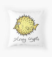 OpenBSD crypto Throw Pillow