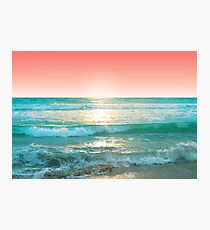 Aqua and Coral, 1 Photographic Print