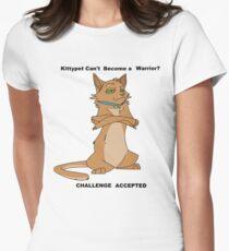 Krieger Katzen - Herausforderung akzeptiert Tailliertes T-Shirt für Frauen