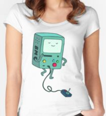 Adventure time BMO beemo Women's Fitted Scoop T-Shirt