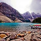 Canoeing in the Rockies by Tammy Hale