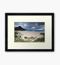 Beautiful Zenith Beach Port Stephens Framed Print
