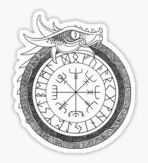 Jörmungandr Encircling Compass Sticker