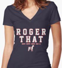 Tom Brady Women's Fitted V-Neck T-Shirt