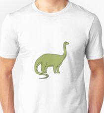 Brontosaurus Mono Line Unisex T-Shirt