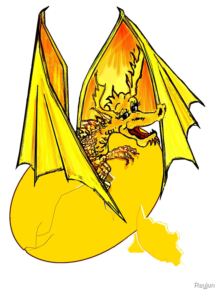 Gold  Lizard of Flames to a T by Rayjun