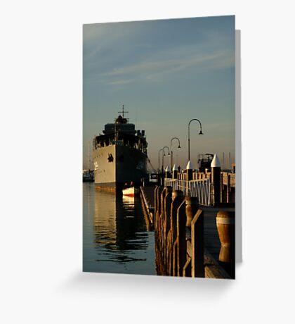 In my Shadow, Gem Pier, Williamstown Greeting Card