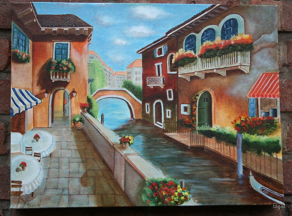 Cafe along the Canal by Bijal