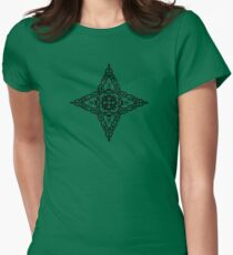 Abstract Star Design Womens Fitted T-Shirt