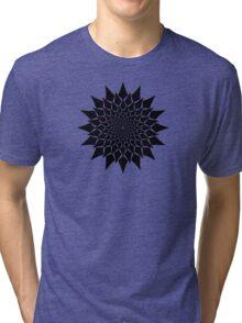 Abstract Vortex Design Tri-blend T-Shirt