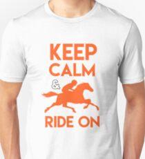 Keep Calm & Ride On Unisex T-Shirt