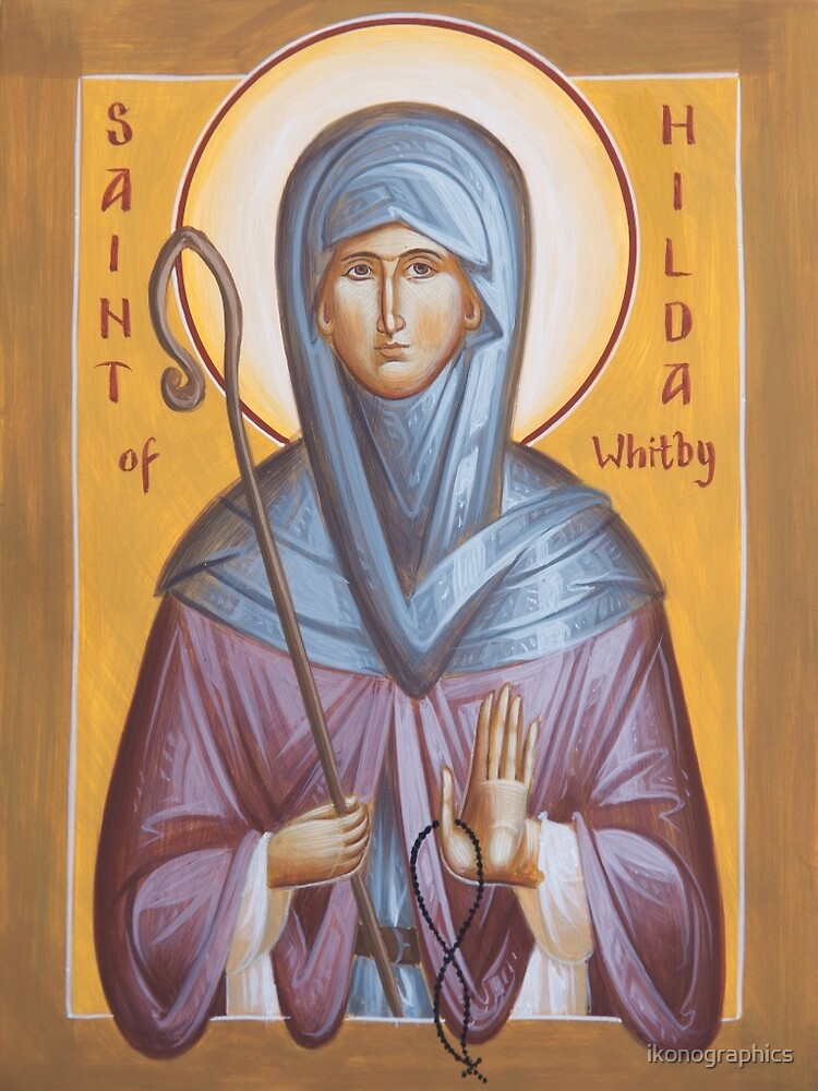 St Hilda of Whitby by ikonographics
