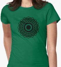 Abstract Vortex Design Womens Fitted T-Shirt
