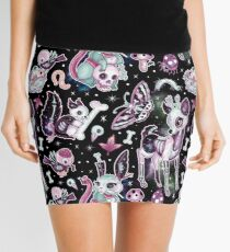 Dead Cute Collection in Black Galaxy Mini Skirt