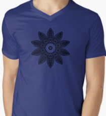 Abstract Flourish Design Mens V-Neck T-Shirt