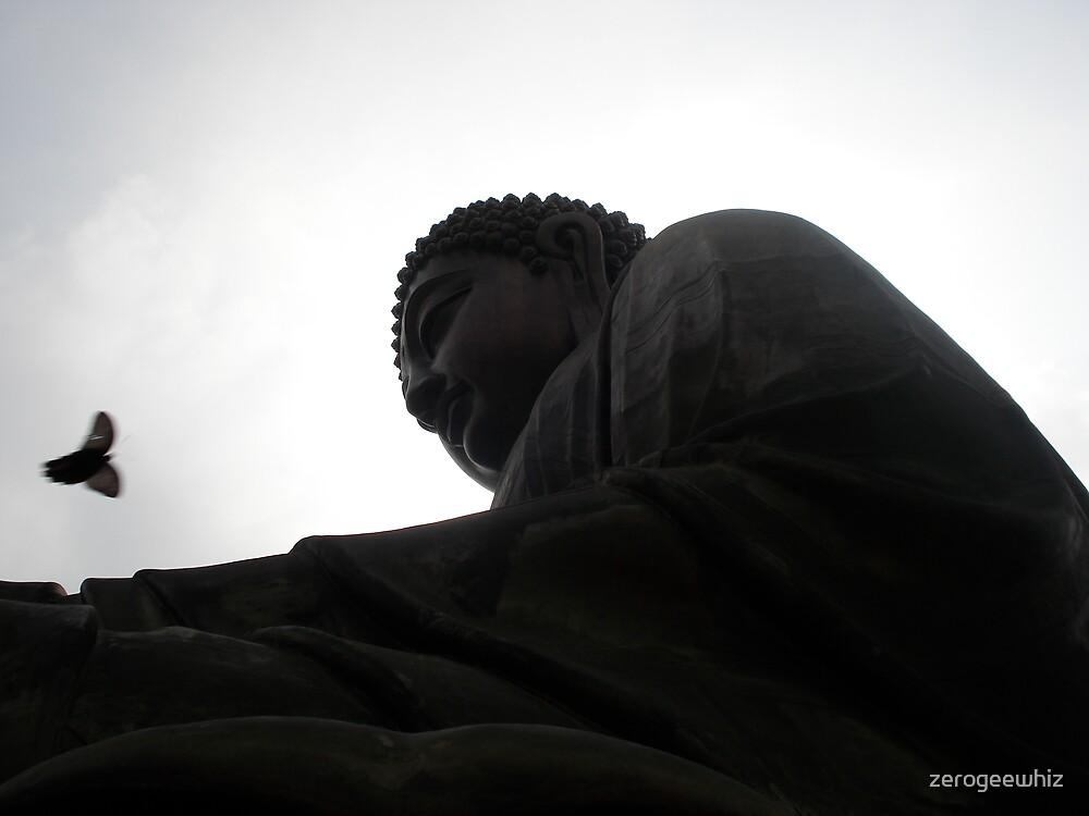 Buddha and Bird by zerogeewhiz