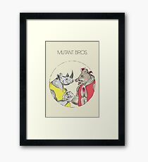 Mutant Bros. Framed Print