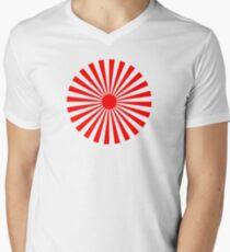 Circular Sun Red Rays Pattern T-Shirt