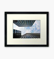 Blue Buildings Framed Print