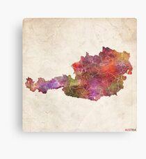 Austria map Metal Print