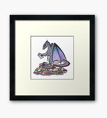 Book Dragon Framed Print