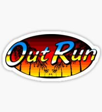 OUT RUN - GAME OVER - LAST WAVE Sticker