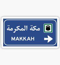 Mecca Road Sign, Saudi Arabia Sticker