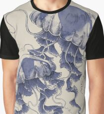 Jellyfish: In Bloom (Blue) Graphic T-Shirt