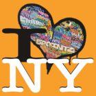 I Love NY Graffiti by closetanon