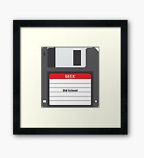 Old School Geek Framed Print