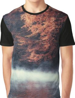 Nature*s Mirror - Fall at the River Graphic T-Shirt