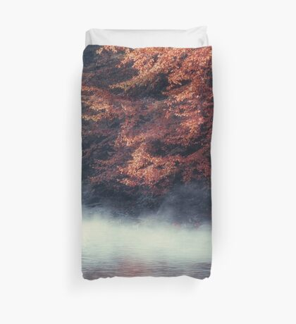 Nature*s Mirror - Fall at the River Duvet Cover