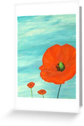 giant poppies by davesart