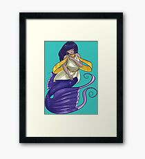 Cute Cartoon Mermaid Framed Print