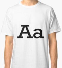 Aa Initial, Letter, Alphabet Classic T-Shirt