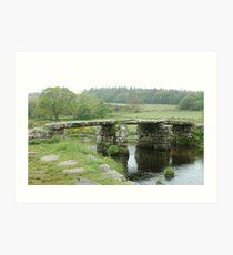 Clapper Bridge - Dartmoor UK Art Print