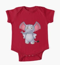 Elephant - Hands On Hips One Piece - Short Sleeve