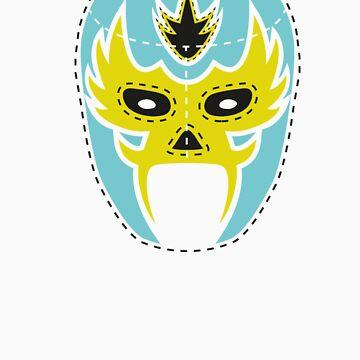 Vintage Lucha Libre Mask 04 by EmilioPereiro