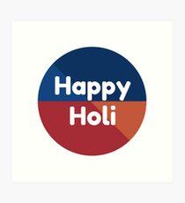 Colorful Happy Holi Art Print