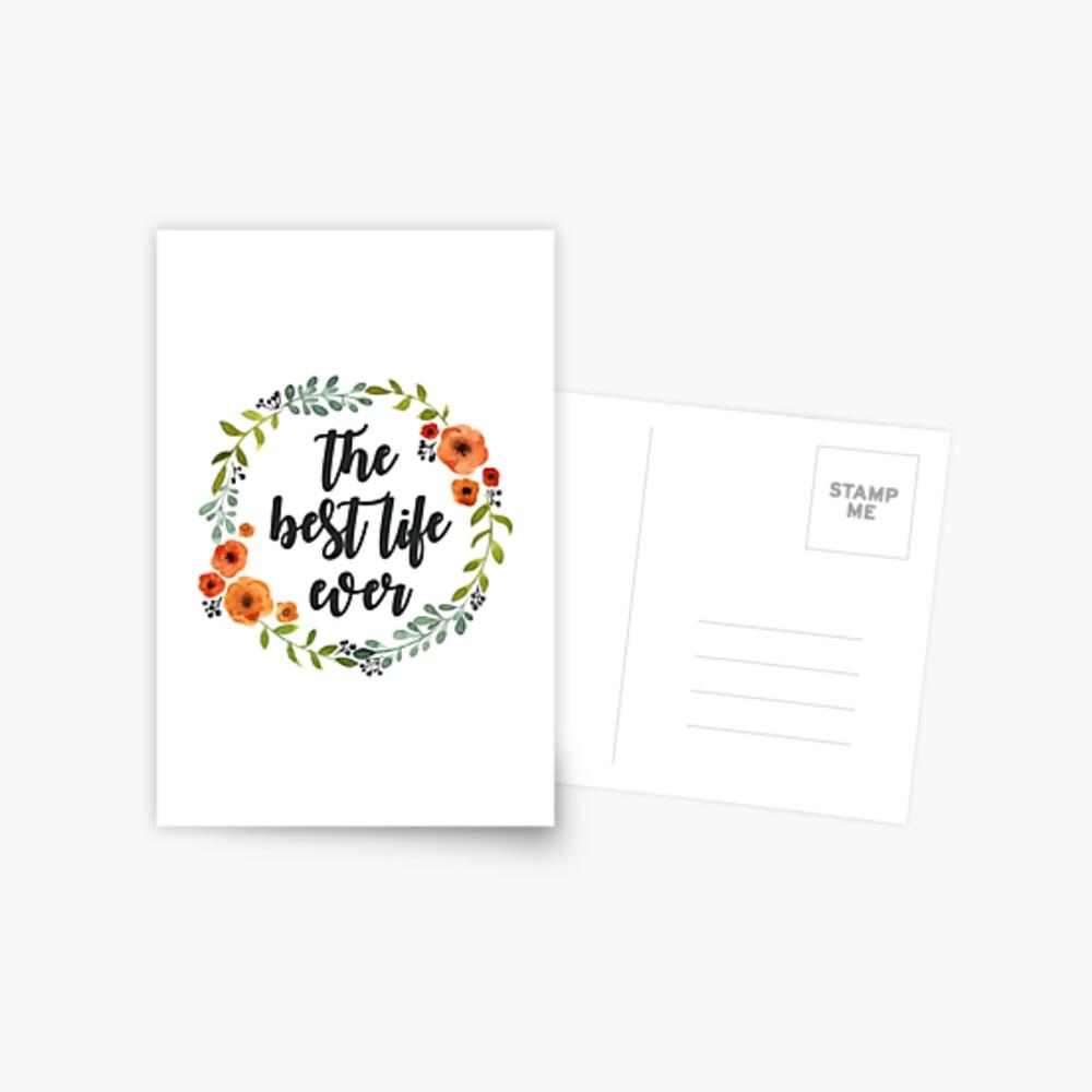 Blumen Krone der besten Live-je Postkarte