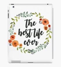 Corona flores the best live ever iPad Case/Skin