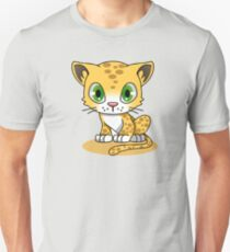 Cute Funny Cartoon Silly Pussy Cat Character Doodle Kitten Drawing T-Shirt