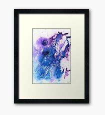 Purple and blue abstract  Framed Print