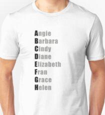 CrossFit Mädchen Alphabet Slim Fit T-Shirt