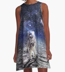Vestido acampanado Space Astronaut Moon Landing Alien Galaxy