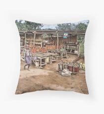Ugandan Market Throw Pillow
