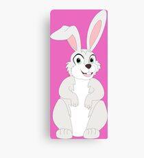 Cute Funny Cartoon Chubby Rabbit Bunny  Character Doodle Animal Drawing Canvas Print